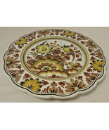 Polychroom Handwerk Holland Serving Platter Hand Painted Porcelain Plate - $19.59