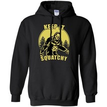 Keep it Squatchy Bigfoot Black Navy Winter Clothes Retro Sasquatch Gift ... - $39.55