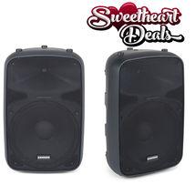 NEW Pair (2) Samson Tech Auro X15D 1000W 2-Way Active Loudspeakers Speakers - $699.98