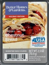 Cherry Chestnut Bread Better Homes and Gardens Scented Wax Cubes Tarts Melts - $4.00