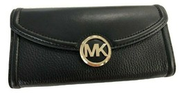 Michael Kors Fulton Mixed Texture Leather Flap Continental Carryall Wall... - $58.41