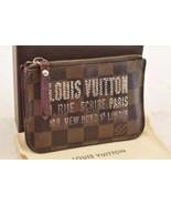 LOUIS VUITTON Damier Ebene Print Pochette Cles Coin Purse N63094 LV Auth... - $240.00