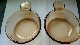 Pyrex Visions V-150-B Amber Grab It Bowl Lot Of 2 Free Usa Shipping - $23.36