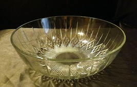 Etched Glass Serving Bowl AA19-LD11940 Vintage