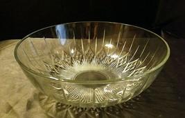 Etched Glass Serving Bowl AA19-LD11940 Vintage image 1