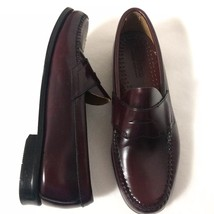 G.H. Bass Weejuns Leather Loafers Men's Size 9.5 D Oxblood Slip-on Dress Shoes - $51.43