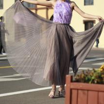 Black Polka Dot Tulle Skirt Black Pleated Tulle Midi Skirt image 7