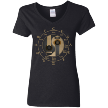 Guitar Circle of Fifths Special G500VL Ladies V-Neck TShirt - $25.00+