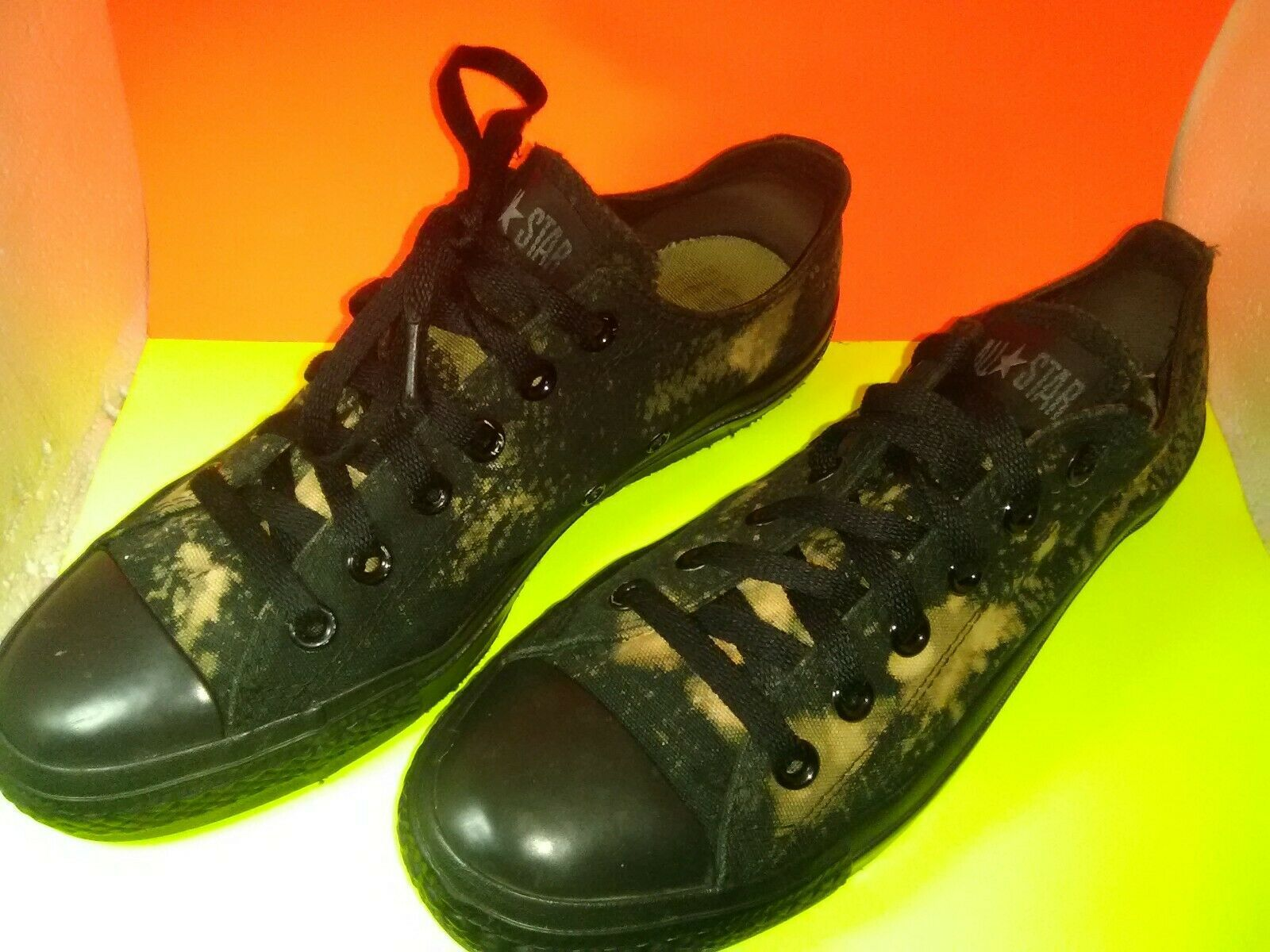 CONVERSE CHUCK TAYLOR ALL STARS BLACK MULTI CANVAS LOW SNEAKERS M5039