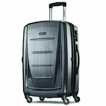 "28"" Expandable Spinner Luggage Hardside Light Rolling Suitcase TSA Lock ... - $161.29"