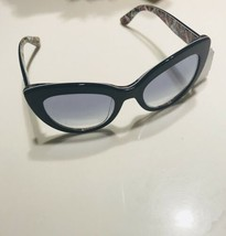 NEW  Dolce & Gabbana 53mm Cat Eye Sunglasses Top Blue Italy MSRP $330 Authentic - $141.11