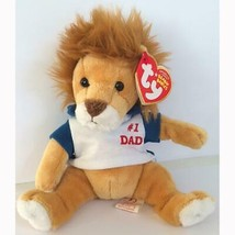 My Dad the Lion #1 Dad Shirt Retired Ty Beanie Baby MWMT Father's Day - $7.87
