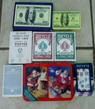 Lot Collectible Playing Card Decks Bicycle Holiday United Airline Coca C... - $21.20