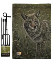 Coyote Burlap - Impressions Decorative Metal Garden Pole Flag Set GS1100... - $33.97