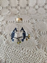 Glass Blue Jay Christmas Tree Ornament - $6.78