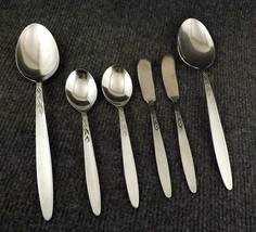Vtg Amefa Tulip Time Lot of 2 Lg Serving Spoons, 2 Teaspoons & 2 Butter ... - $19.95