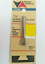 """NEW 1/2"""" Dovetail Router Bit - Vermont American Carbide No 22500 - $11.99"""