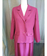 Womans Suit Skirt and Jacket Blazer size 14P Skirt Size 12P - $31.68