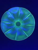 "Fenton FLORENTINE Green Stretch Glass Melon Ribbed Flared Bowl 7 3/4""  Dia - $19.29"