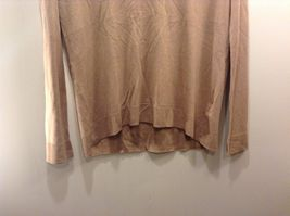 H&M Basic Long Sleeve Tan Shirt Sz XS image 3