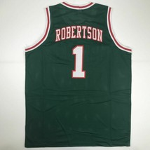 New OSCAR ROBERTSON Milwaukee Green Custom Stitched Basketball Jersey Me... - €44,54 EUR