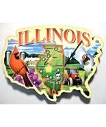 Illinois United States Outline Artwood Fridge Magnet - $6.50