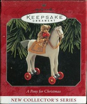 Hallmark Keepsake Ornament - A Pony for Christmas 1998 - 1st in Series - $9.89