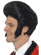 Smiffys Anni 50 Ciuffo Re Elvis Basette Parrucca Costume Halloween Acces... - £18.67 GBP