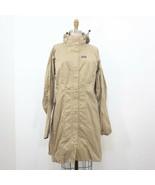 L - Patagonia Khaki Tan Zip Up Light Weight Packable Hooded Rain Jacket ... - $45.00