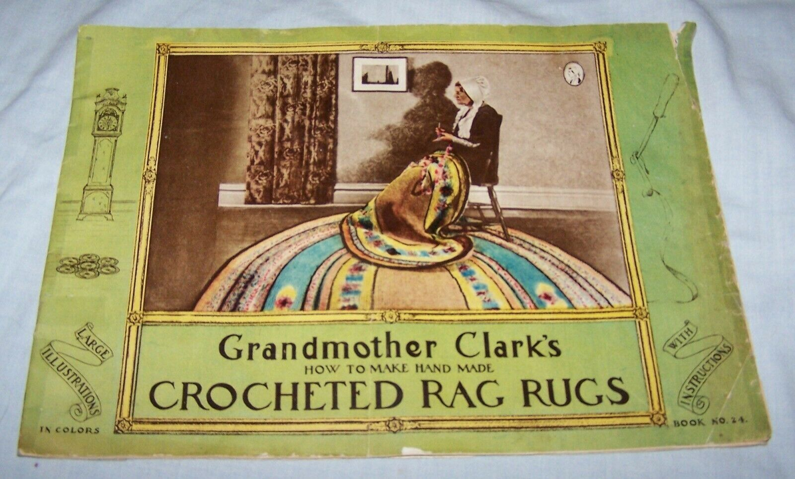 Grandmother Clark's Handmade Crocheted Rag Rugs booklet-1933-Estate Sale Find - $7.70
