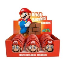 Nintendo Super Mario Brothers Brick Breakin Candy Embossed Metal Tin Box of 18 - $58.00