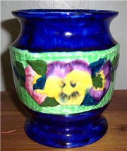 Vintage Ringstons Ltd Ceramic Viola Hand Painted Vase by Maling Ware, En... - $129.99