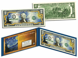 USA 2 Dollar Bill 1889 Vincent Van Gogh THE STARRY NIGHT Painting Legal ... - $19.62