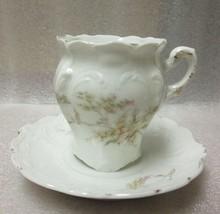 Antique Demitasse Espresso Cup Saucer Signed Walmar Germany Fine Floral Pattern! - $8.86