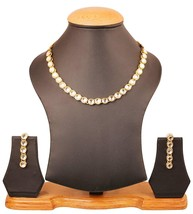 NUHA Fashion Gold Plated Necklace Set with Earrings for Women and Girls - $9.35