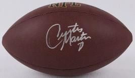Curtis Martin Signed Full Size NFL Football JSA Jets Patriots Pitt HOF - $210.36