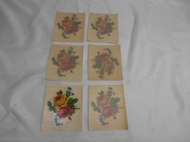 Antique Acme Decalcomania #1281 FLOWER DECALS Restoration 6 sheets UNUSED - $29.69