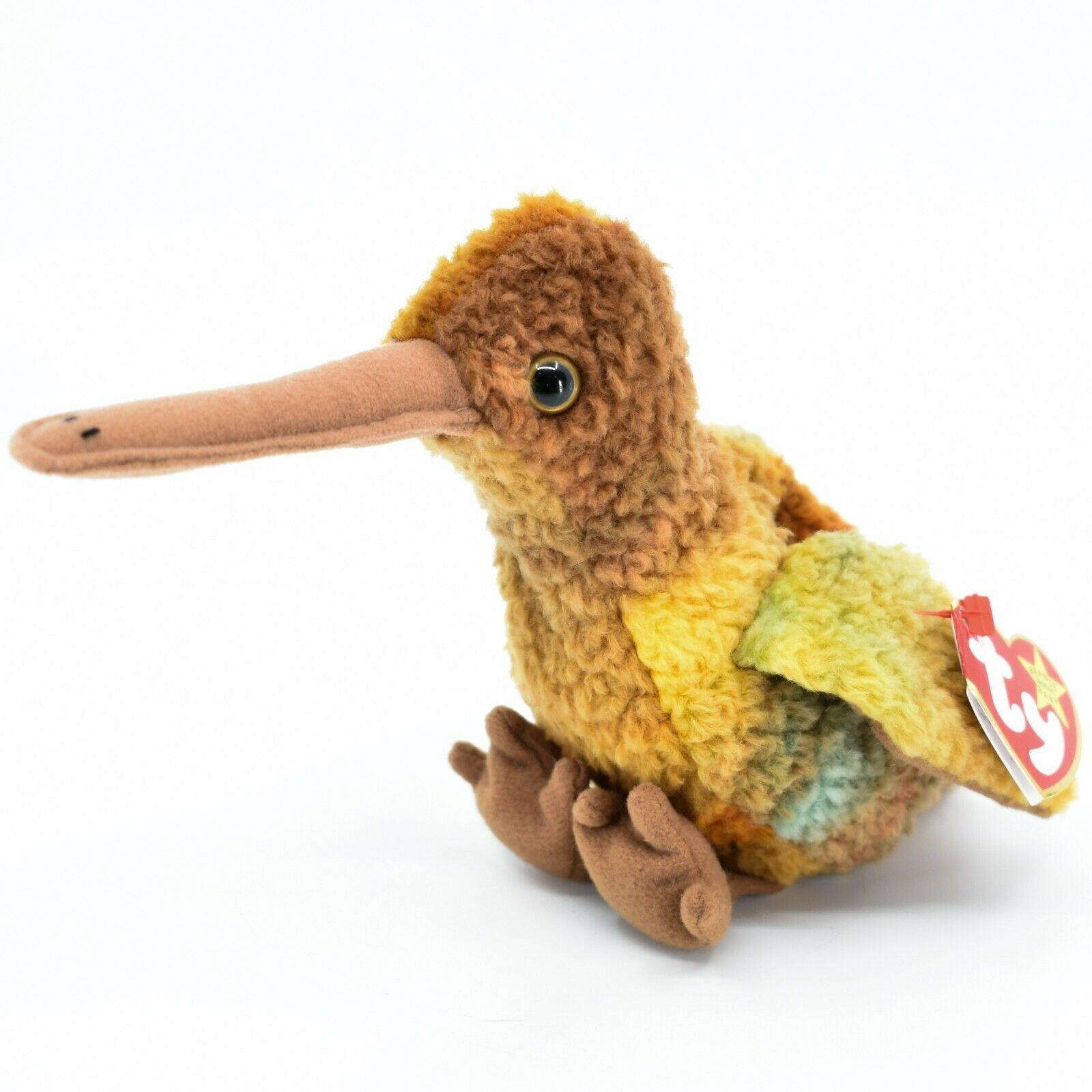 1998 TY Beanie Baby Beak the Kiwi Bird Beanbag Plush Toy Doll