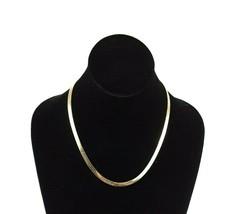 Vintage Monet Gold Tone Snake Chain Necklace EUC - $18.22