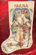 Janlynn Father Winter Old Victorian Santa Christmas Cross Stitch Stockin... - $99.95