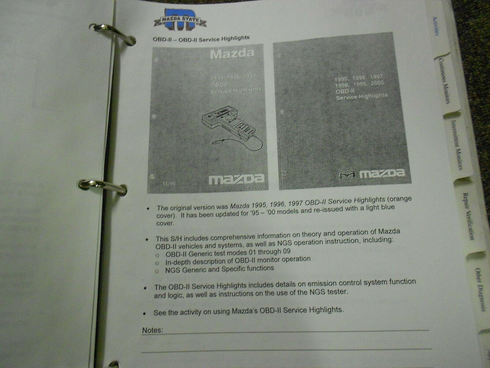 2003 Mazda Fortgeschrittene Benzin und Emissionen Service Reparatur Shop Manuell