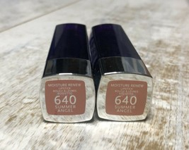 (2-Pack) Rimmel London Moisture Renew Lipstick #640 Summer Angel RARE - $19.99