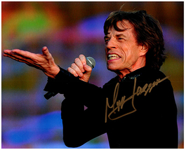 MICK JAGGER Signed Autographed Photo w/ Certificate of Authenticity 070 - $105.00
