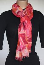 NEW Calvin Klein Orange Charbon Ardent Women's Neck Scarf Wrap 28x76 - $14.84