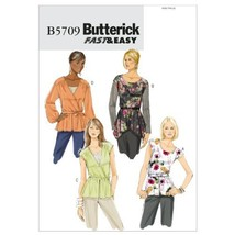 Butterick Patterns B5709 Misses' Top and Belt, Size B5 (8-10-12-14-16) - $13.72