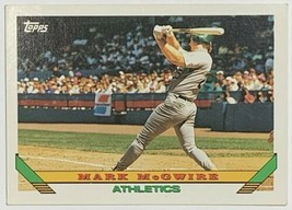 1993 Topps #100 Mark McGwire Athletics Baseball Card - $3.91