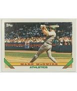 1993 Topps #100 Mark McGwire Athletics Baseball Card - $3.91