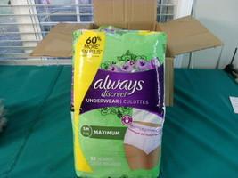 Always Discreet Incontinence & Postpartum Underwear for Women, Small/Medium, 64  - $33.25