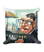Simply Charly Jean-Paul Sartre Square Pillow - $34.30