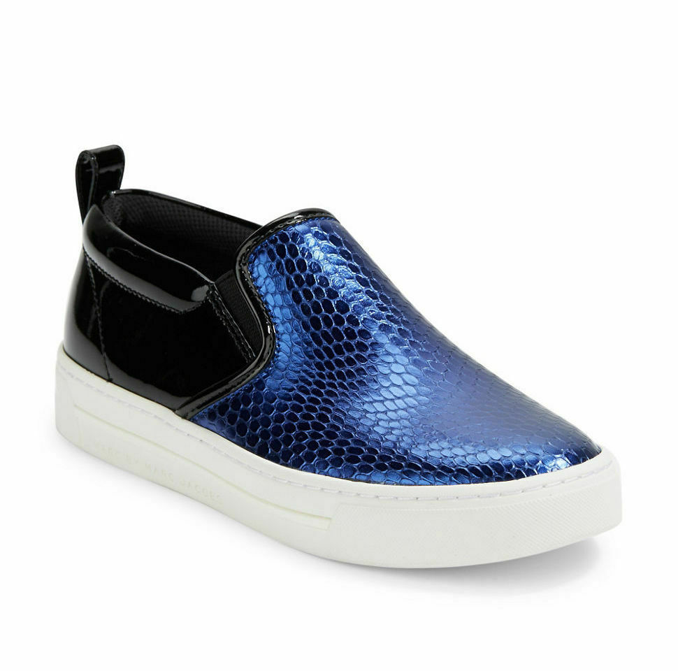 Marc Jacobs Shoes Slip On Sneaker Embossed Leather NEW - $124.99